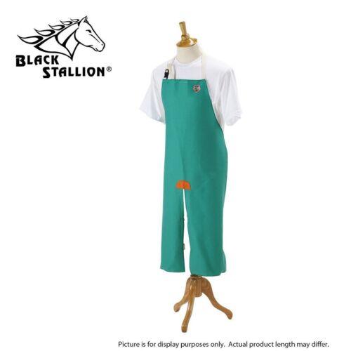 "Revco Black Stallion F9-48SL 48"" 9oz Green Flame Resistant Split-Leg Bib Apron"