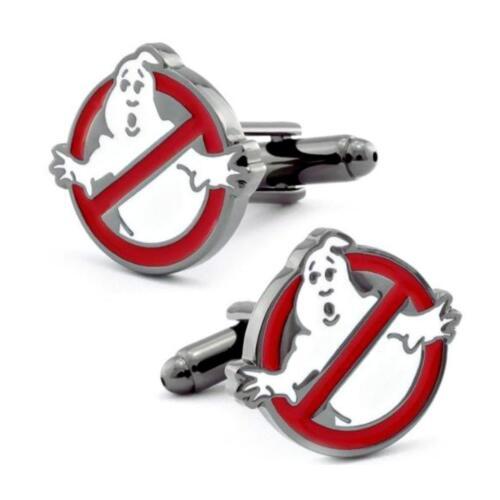 Ghostbusters Manschettenknöpfe Film Logo Kein Geister Neu mit Geschenktüte Nerd