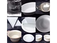 Various cafe / restaurant items - £40 for the lot -dishes, kitchen equipment, cutlery