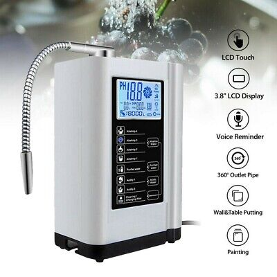 Alkaline Acid Water Ionizer Purifier Machine Filter Control Touch PH 3.5-10.5