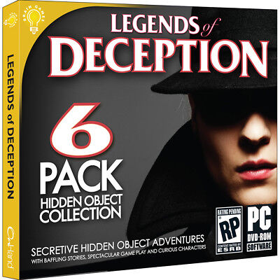 Computer Games - Legends Of Deception PC Games Windows 10 8 7 XP Computer hidden object seek find