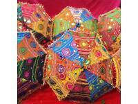 Embroidered Bridal Wedding Parasol