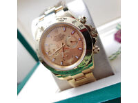 Rossco's Watches. Rolex Daytona. All Gold Edition. New and Boxed with Paperwork.