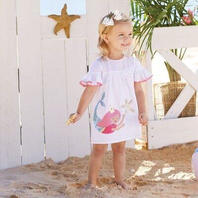 Mud Pie E0 Baby Kleinkind Mädchen Meerjungfrau Rüsche - Baby Meerjungfrau Kleid