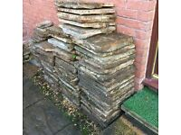 Garden slabs/stone Red slabs - ideal for patio or garden area.