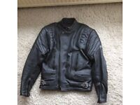 Mans 2 piece leather motorcycle outfit