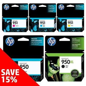 Original HP 950/950-Ink Black (& Colour) - Buy 2 Direct from HP Save 15%