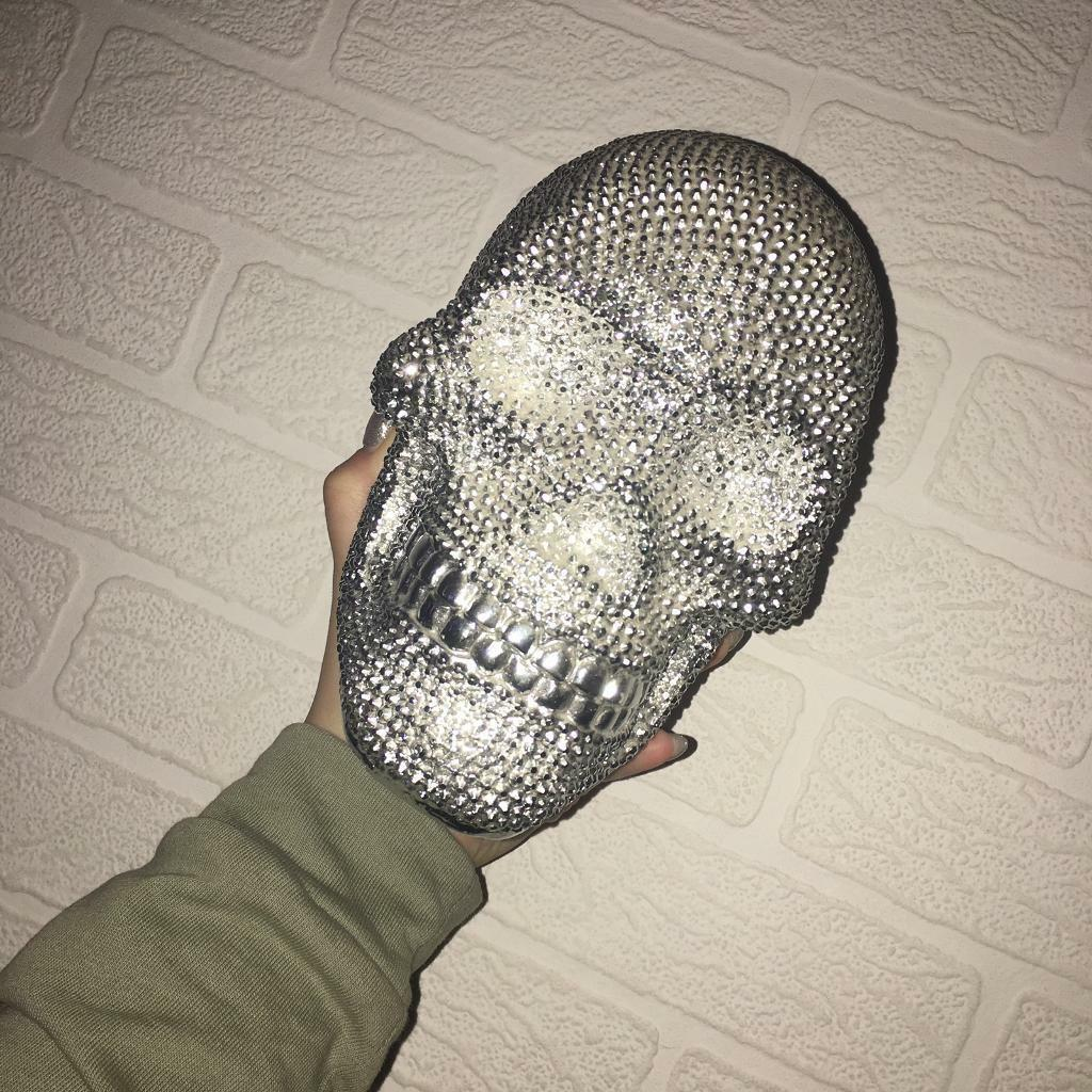 Sparkly skull ornament