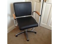 Black wella salon chair and salon trolley