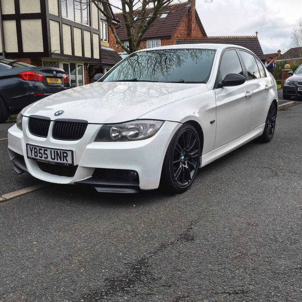 BMW 318i 335 Replica Twin Exhaust White Not 320d 320i 318d
