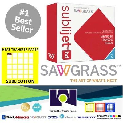Sawgrass Virtuoso Sublimation Ink Cartridge Sg400sg800 Cyan 20 Sh Sublicotton