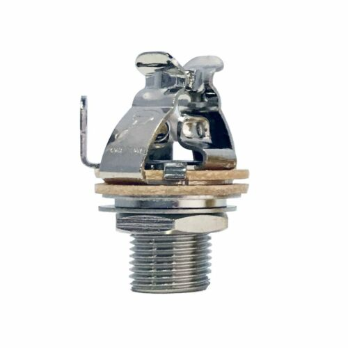 """Pure Tone Multi Contact Mono 1/4"""" Output jack, Nickel PTT1 w/ Mounting Hardware"""