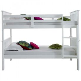 🔥💥🔥SAME DAY FAST DELIVERY🔥🔥 BRAND NEW 3FT ATLANTIS WHITE WOODEN CONVERTIBLE BUNK BED & MATTRESS