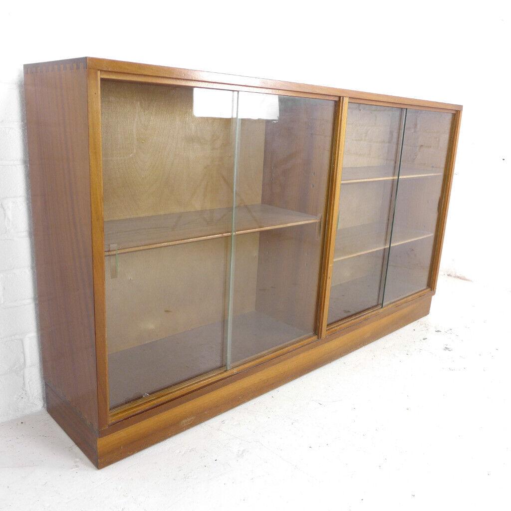 Vintage Teak Bookcase With Glass Doors Mid Centuryretro G Plan