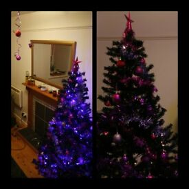 6ft artificial pine black tree - bergain