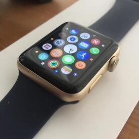 Apple Watch Series 2 with Gold 42mm screen