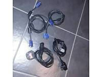 Monitor cable VGA and kettle power cable