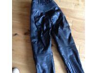 Motorbike Belstaff Leather Trousers Black