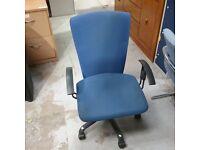 Sitag International pedestal chair in blue