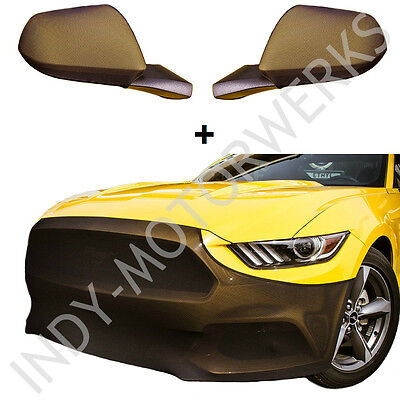 MUSTANG NOVISTRETCH FRONT + MIRROR BRA HIGH TECH STRETCH MASK COMBO FITS 6th GEN