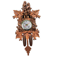 Decorative Collectibles Wooden Battery-operated Cuckoo Clock Home Décor N