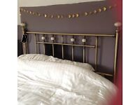 Brass Headboard King Size Bed