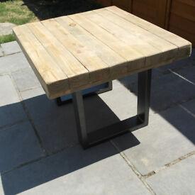 Reclaimed Wood Coffee Table Steel Legs