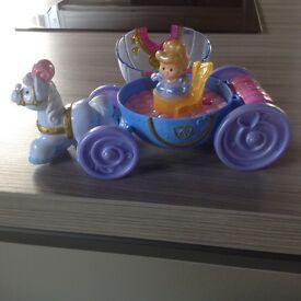 Fisher price Disney Princess Cinderella's Carriage- Excellant condition