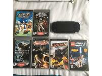 Sony PSP, Charger, Memory Card and 6 Games