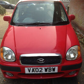 Hyundai Amica GSI Automatic 5 Door Hatchback. Petrol, low milage, Red, MOT until 27th Feb 2017.