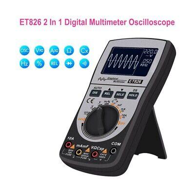 2in1 Et826 Digital Oscilloscope Multimeter Auto Range Backlight Current Waveform