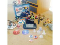Nintendo Wii u console with playseys two games and 25 figures . Disney 3.0 and 2.0 included