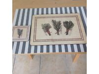 Set of Four Table Mats and Coasters