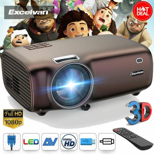 5000Lumens Mini Projector HD Home Theater Video Movie Multim