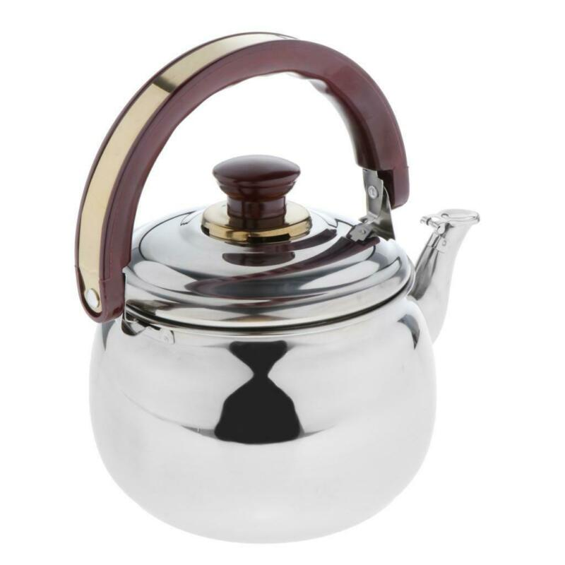 Whistling Tea Kettle Stainless Steel Teapot Stove Top Fast Boil Water Coffee