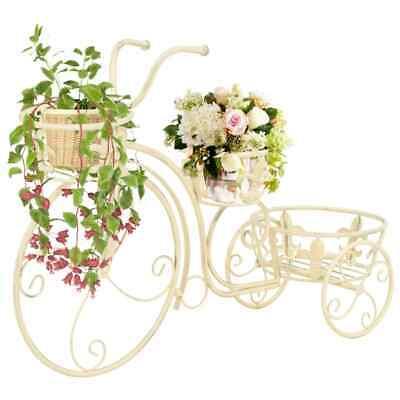 vidaXL Plant Stand Bicycle Shape Vintage Style Metal Garden Flower Display
