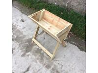 Wooden raised Crib planter