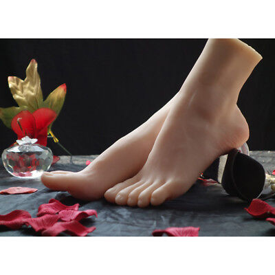 1 Pair Female Fake Foot Feet Model Mannequin Display Shoes Nails Practice