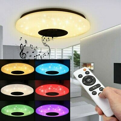 LED Luz De Techo Rgb Música Bluetooth Altavoz Dimmer Lámpara control remoto...