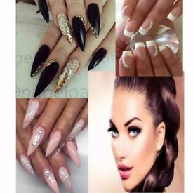 Mobile eyelash extension and acryl nails spray tan cover all Manchester