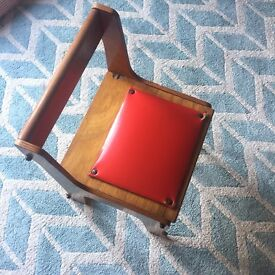 Vintage Childs chair and desk (opens up)
