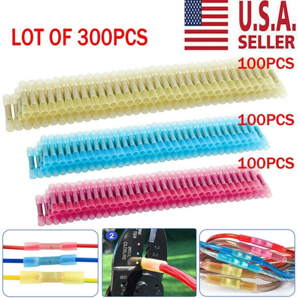 Blue 1.5-2.5mm² Yellow 4-6mm² Butt Connectors Crimp Terminals Red 0.5-1.5mm²