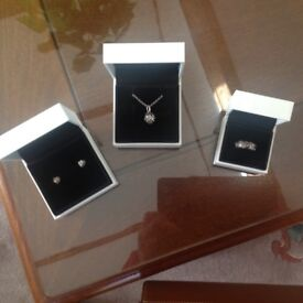 Perfect Gift , unused and still in original boxes Pandora Tree of Life earrings , necklace and ring