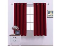 *NEW* Thermal Insulated Burgundy Red Curtains