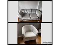 Sofa & Tub Chair for sale