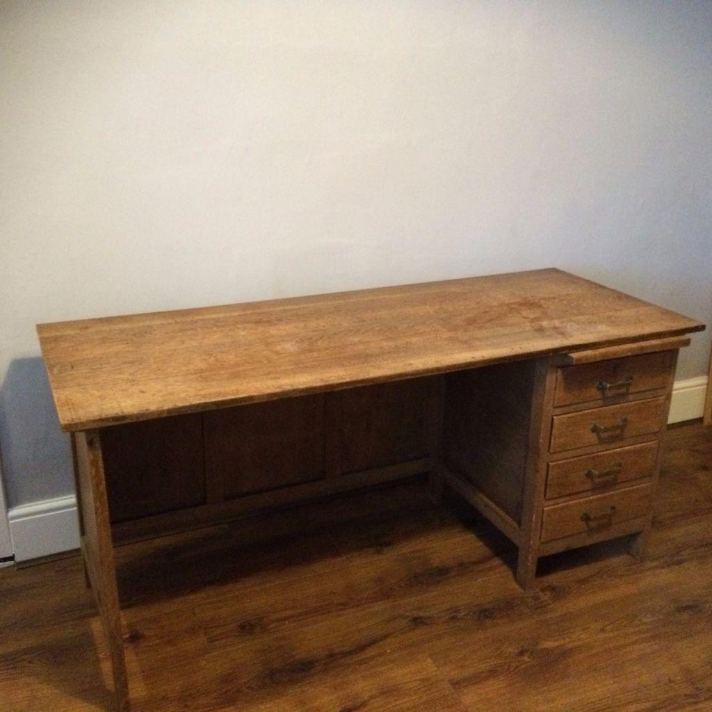 Antique Oak Writing Desk 100 In Burnside Glasgow