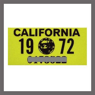 1972 California Yom Dmv Truck Commercial License Plate Sticker   Tag Ca 1963 72