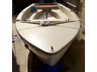 GULL DINGHY WITH OUTBOARD AND TRAILER. EXCELLENT FISHING BOAT.