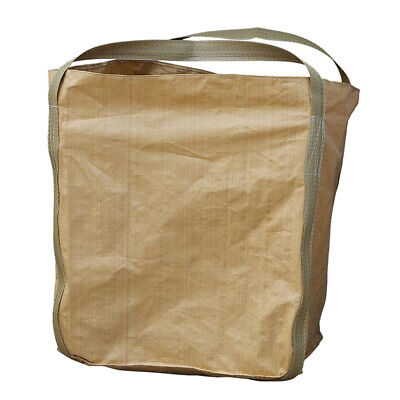 4400lbs Heavy Duty FIBC Bulk Bag Industrial Super Sack 3.3x3.3x3.9' w/ Lid