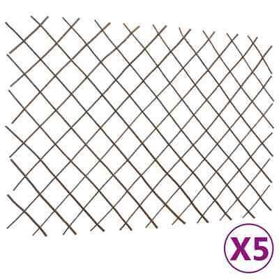 vidaXL 5x Willow Trellis Fences 180x120 cm Garden Privacy Screening Barrier